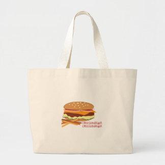 Cheeseburger Canvas Bag