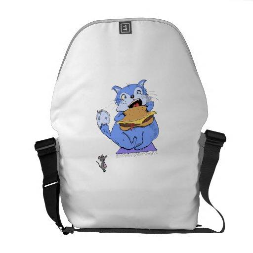 Cheeseburger Cat Courier Bag