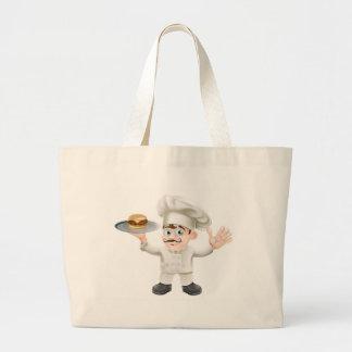 Cheeseburger chef canvas bags