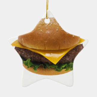Cheeseburger Christmas Ornament