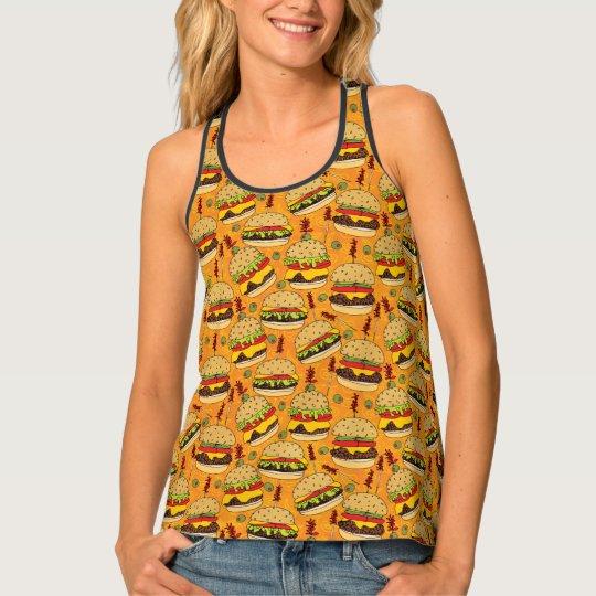 Cheeseburger Deluxe Tank Top
