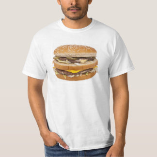 Cheeseburger double fast food shirts