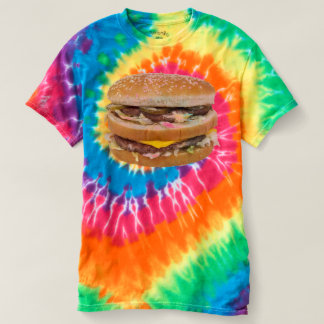 Cheeseburger double fast food tee shirts