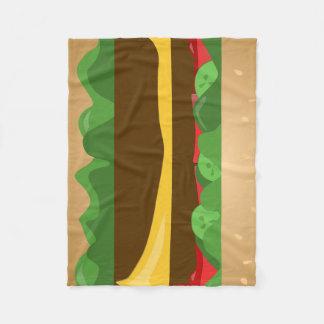 Cheeseburger Fleece Blanket