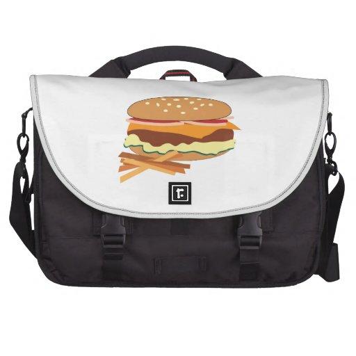 Cheeseburger & Fries Laptop Commuter Bag