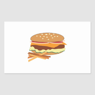 Cheeseburger & Fries Sticker