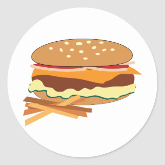 Cheeseburger & Fries Stickers