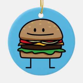Cheeseburger Hamburger ground meat Beef cheese bun Christmas Ornament