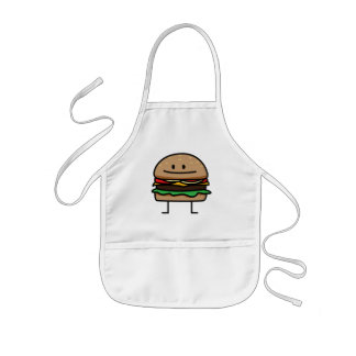 Cheeseburger Hamburger ground meat Beef cheese bun Kids Apron