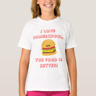 Cheeseburger Homeschool Humor T-Shirt