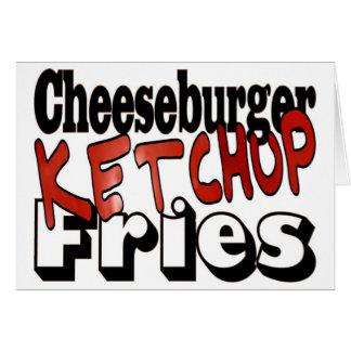 Cheeseburger Ketchup Fries Cards