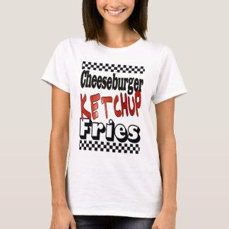 Cheeseburger Ketchup Fries T-Shirt
