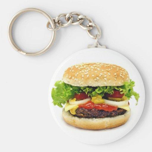Cheeseburger Keychains