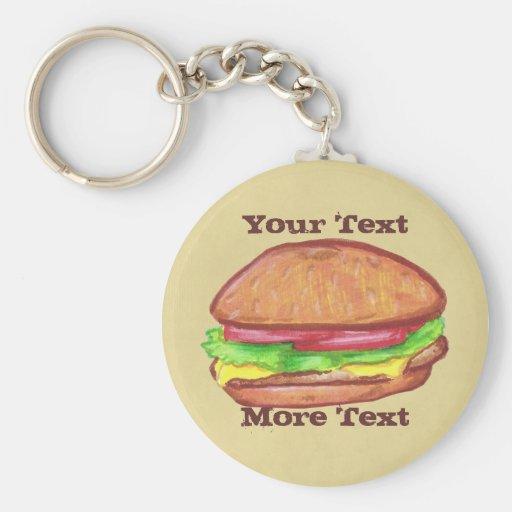 Cheeseburger Keychain