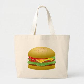 Cheeseburger Large Tote Bag