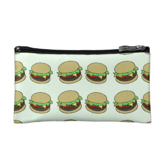 Cheeseburger Makeup Bags