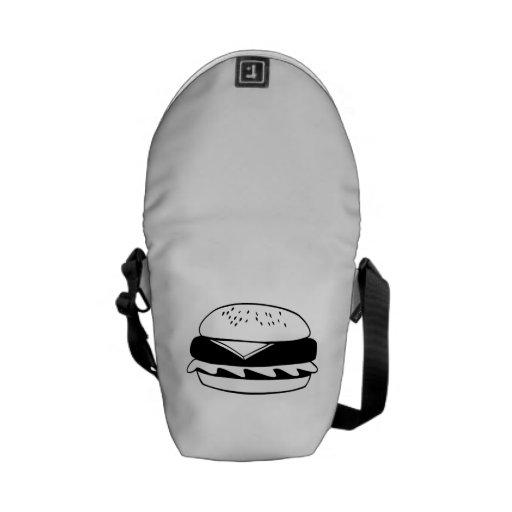Cheeseburger Courier Bag