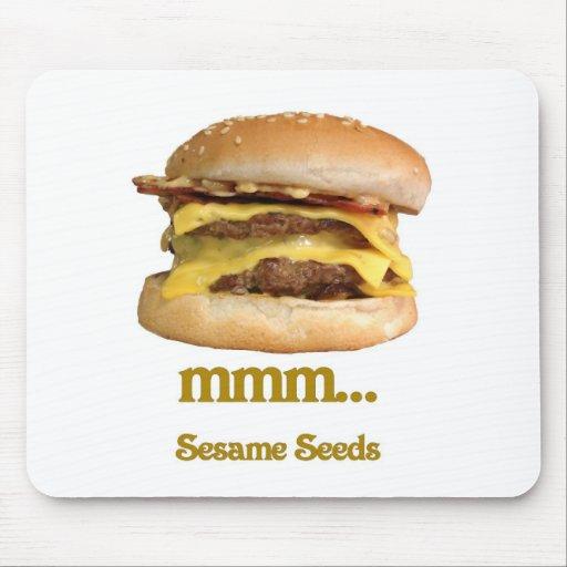 cheeseburger - mmm...sesame seeds mousepad