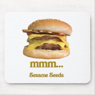 cheeseburger - mmm sesame seeds mousepad