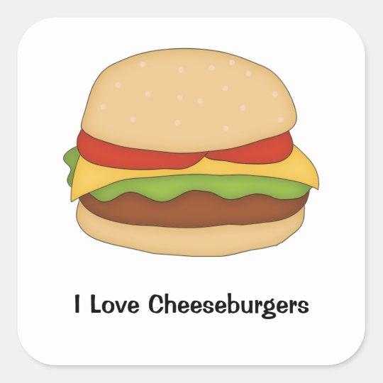 Cheeseburger Sticker