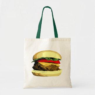 Cheeseburger tote canvas bag