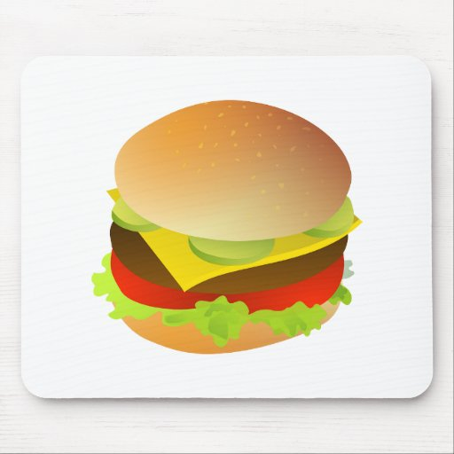 Cheeseburger with Lettuce, Tomato, and Pickles Mousepad