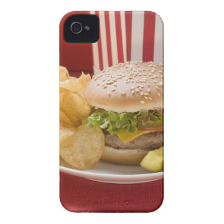 Cheeseburger with potato crisps and gherkin iPhone 4 cover