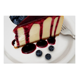 Cheesecake And Blueberries Print