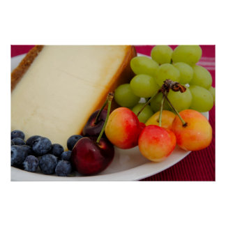 Cheesecake With Fruit Poster