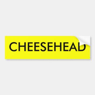CHEESEHEAD BUMPER STICKER