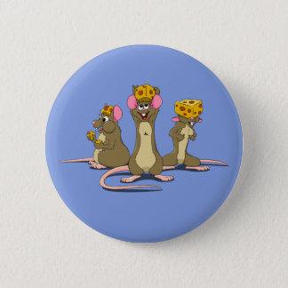 Cheesehead Mice 6 Cm Round Badge