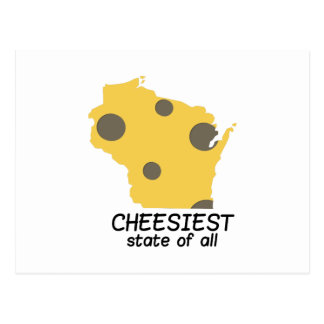 Cheesiest State Postcard