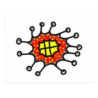 Cheesy Cartoon Germ Postcard