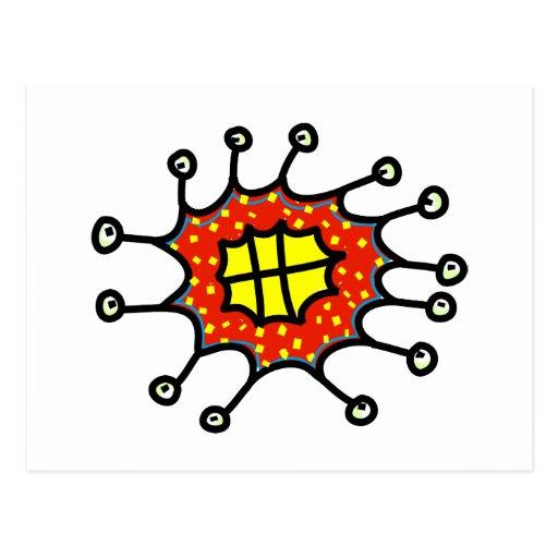 Cheesy Cartoon Germ Postcards