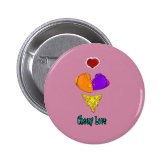 Cheesy Love 6 Cm Round Badge