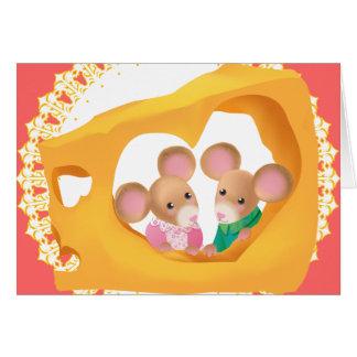 Cheesy Love Greeting Card