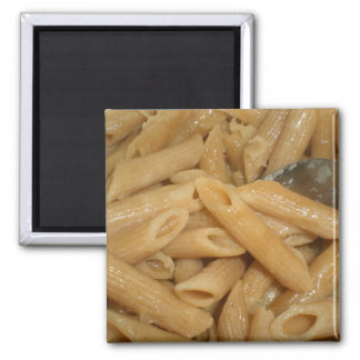 Cheesy Pasta Square Magnet