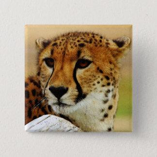 Cheetah 15 Cm Square Badge