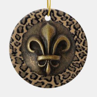 Cheetah 2 christmas ornament
