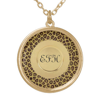 Cheetah 3 gold plated necklace