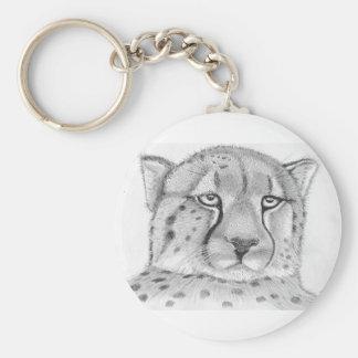 Cheetah 5.7 cm Basic Button Key Ring