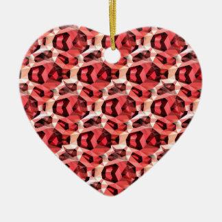 Cheetah Abstract Print Christmas Ornament