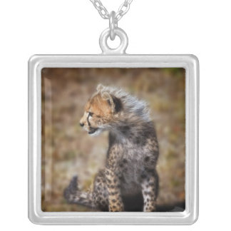Cheetah (Acinonyx Jubatus) as seen in the Masai 2 Silver Plated Necklace