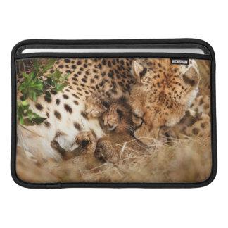Cheetah (Acinonyx Jubatus) Grooming One-Day Old MacBook Sleeve