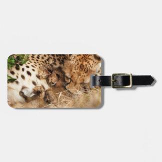 Cheetah (Acinonyx Jubatus) Grooming One-Day Old Travel Bag Tag