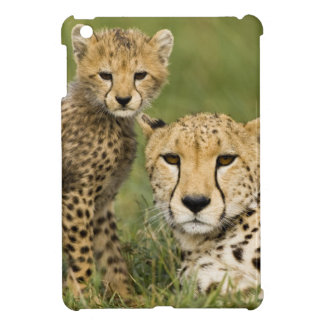 Cheetah, Acinonyx jubatus, with cub in the iPad Mini Cases
