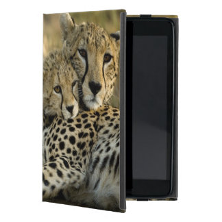 Cheetah, Acinonyx jubatus, with cub in the Masai 2 iPad Mini Cases