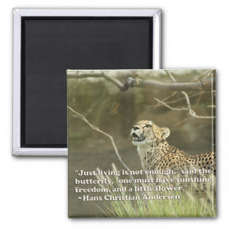 CHEETAH AND BUTTERFLY MAGNET