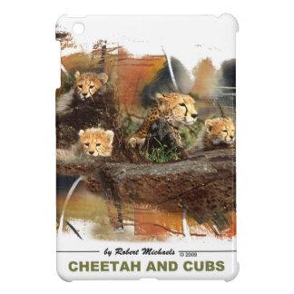 Cheetah and Cubs Hard Shelll iPad Case