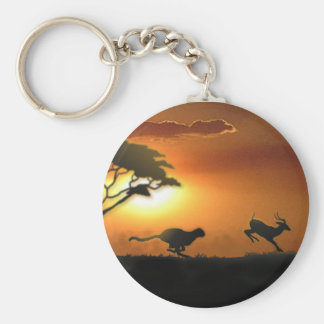 Cheetah and Gazelle keychain